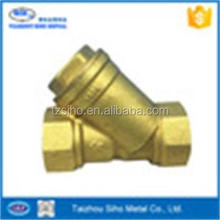 BSP thread sand blasting surface Brass Y-pattern Strainer/check Valve