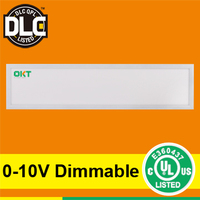 UL DLC listed ultra thin led panel light 1x4ft 40w 50w suitable for damp location