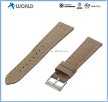 Canvas & Leather Hybrid Buckle Watch Bands Straps For Apple Watch