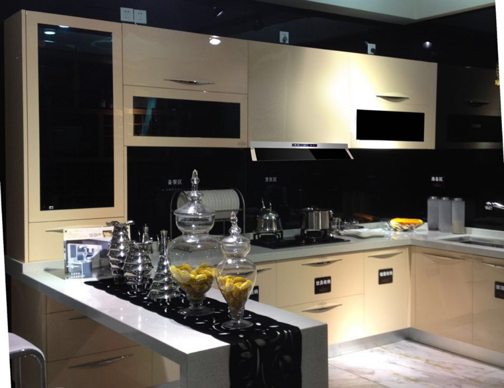 304 stainless steel .anti - scraches Carcase stone countertop modular stainless steel kitchen cabinet