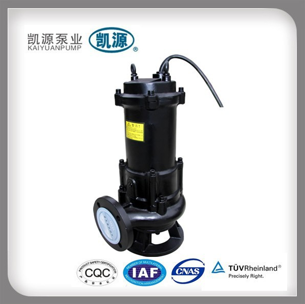 WQ 5 hp Pump Centrifugal Sewage Pump for Raw Sewage Pump with Cutting Device