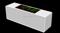 Wireless stereo Innovative gadget Music Box bluetooth speaker+FM Radio+clock+alarm+speaker with LCD