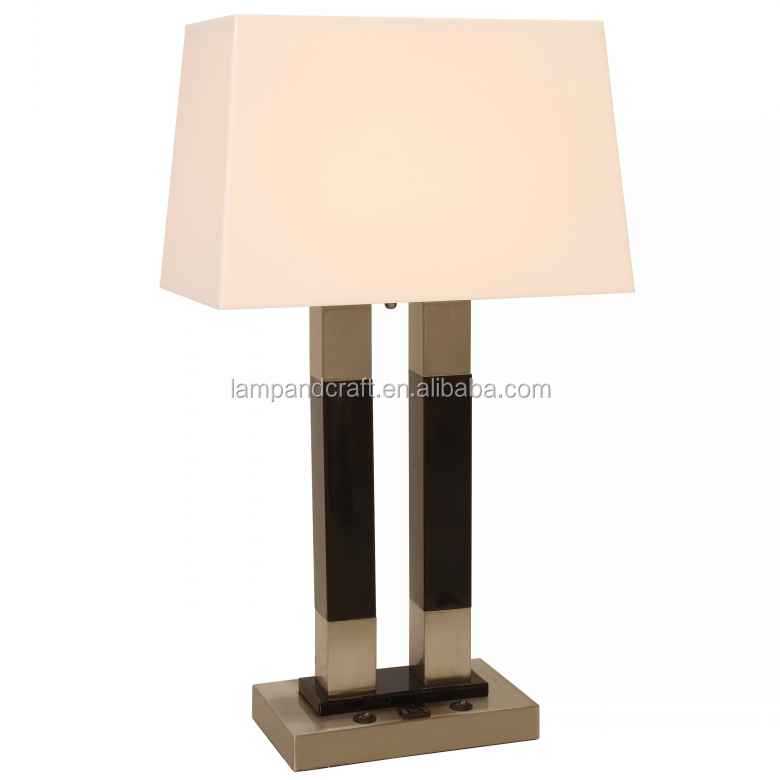 UL CUL twin root canal table lamp for USA five star hotel lamp