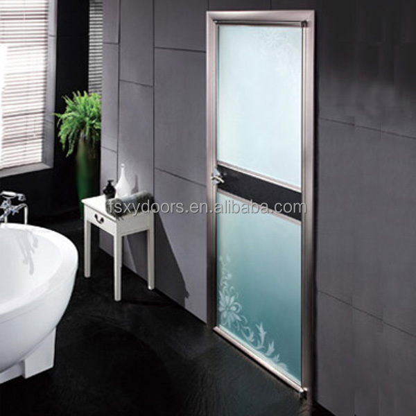 Good quality aluminum frame smoked glass interior doors