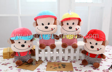 wholesale custom Pink Teddy Bear toys for kids Pink small plush stuffed toy monkey