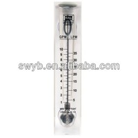 Acrylic panel flow meter with stainless steel rotor inside.