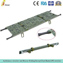 ALS-SA106 Supply Military aluminum rescue foldaway stretcher