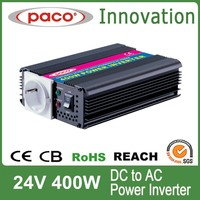 Power inverter for solar panels 400W,off grid 24V to 220V with CE CB ROHS certificate