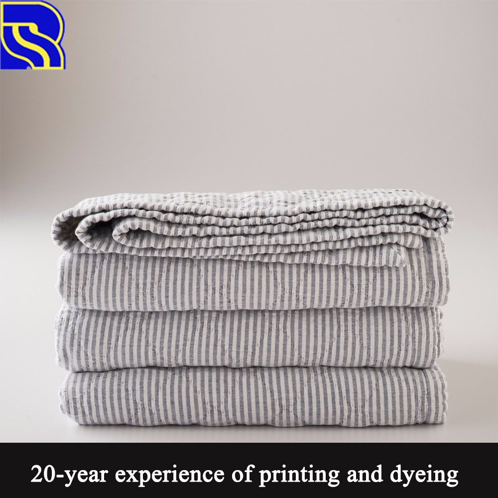 Best quality comfortable easy care cotton stripe fabric