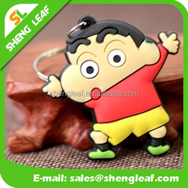 Cartoon characters design 3D Soft Rubber PVC Keyring