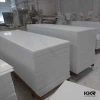 pure white sheets and pearl of mother solid surface artificial stone wall