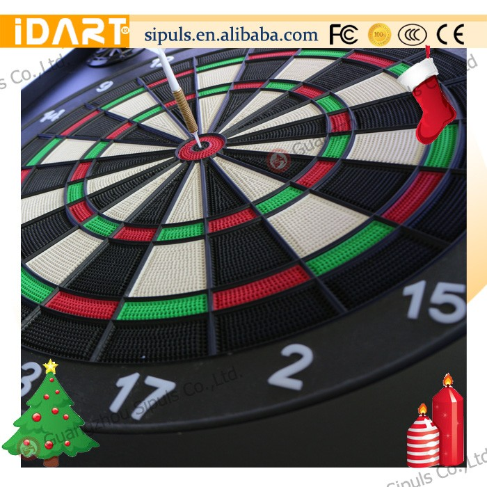 2016 hot sale wood dart cabinet 15'' melamine dart board machine with 18 pcs safety darts