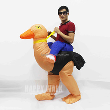 halloween cosplay costume horse riding clothes ostrich inflatable costume lyjenny pvc suit for adults party dress
