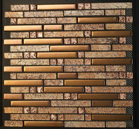 gold mosaic tile material