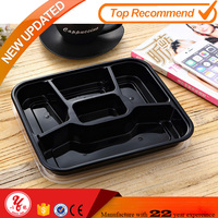 fashion design fast food package box 3 Compartments containers plastic food tray