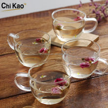 Small and exquisite glass tea cups Clear and cheap glass tea cup 160ml