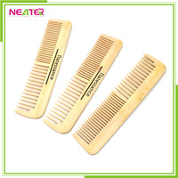 Hot sales wide tooth nature color hair wood comb