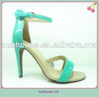 2015 Hot Selling Stripe Stiletto Heel Ladies And Girl's Sandals