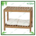 Multi-functional modern durable bamboo towel rack