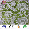 Polyester cord white embroidery lace fabric for drapery