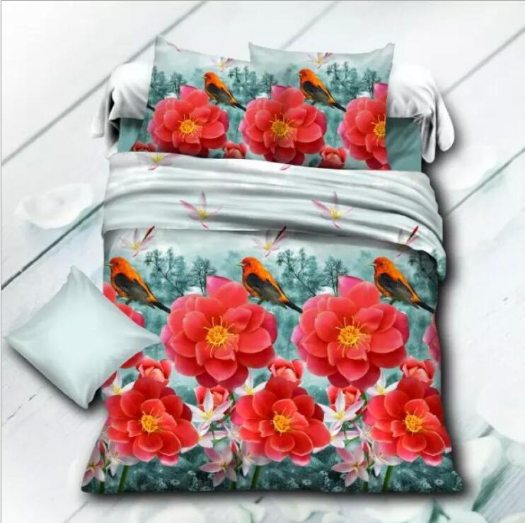 Wholesale printed flowers bedding set cheap 3D comforter set