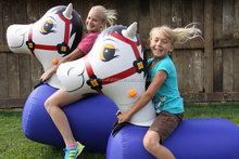 Made in china inflatable pony hops for kids play