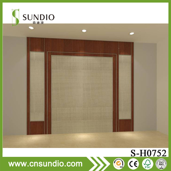 wholesale hotel decoration 3d wall covering bamboo fiber wall panel for walls