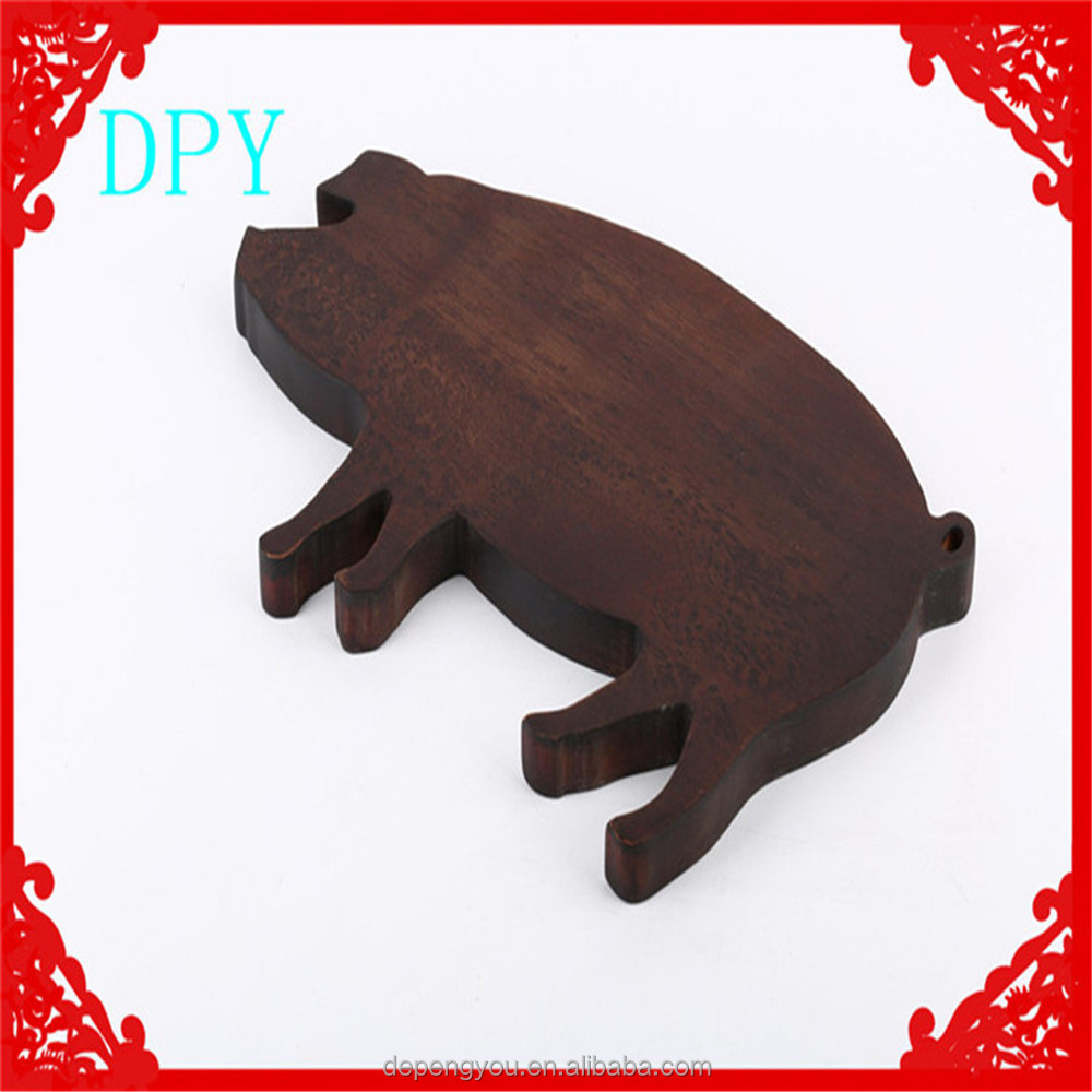 Wooden Cutting board Pig Pattern Shape chopping Board Suitable for kitchen & fruit