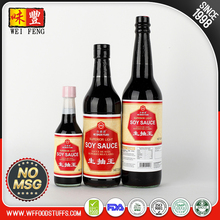 Factory supplier healthy No MSG Light Soy Sauce for supermarket