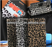 Leather Leopard pattern case for samsung note 3 III n9000 with wallet