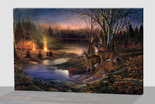 wholesale cheap wall art with led lights canvas print lighted animal picture