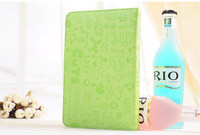 Faerie Cartoon cute green leather case for 7 inch tablet pc