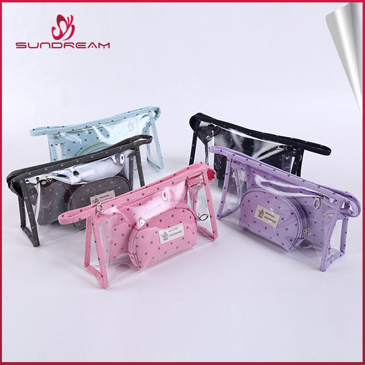 Hot Sale New design cosmetic bag set of 3 cosmetic bag
