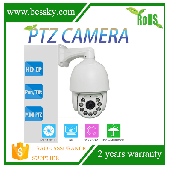 New design CMOS 1.3mp 9pcs Support ONVIF H.264 compression mode P2P Outdoor autotracking Control speed 180Deg/sec ptz camera