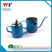 Stainless Steel color painting Latte Pro Distributed Milk Pitcher/Stainless Milk Frothing Jug With Lid