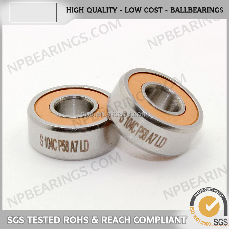 Free sample longest spin sealed rubber micro 688 bearing c3 clearance