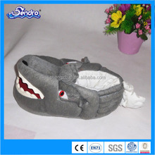 promotional plush indoor slippers / frozen slipper shark made in china