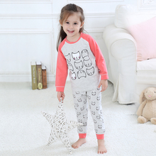 wholesale kids clothing Baby pyjama set 100%cotton long sleeve girl sleepwear