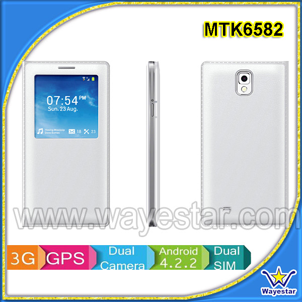 Star N8000 Mobile Phone/5.5 inch IPS MT6582M Quad Core Android 4.2 Dual SIM 3G WIFI GPS