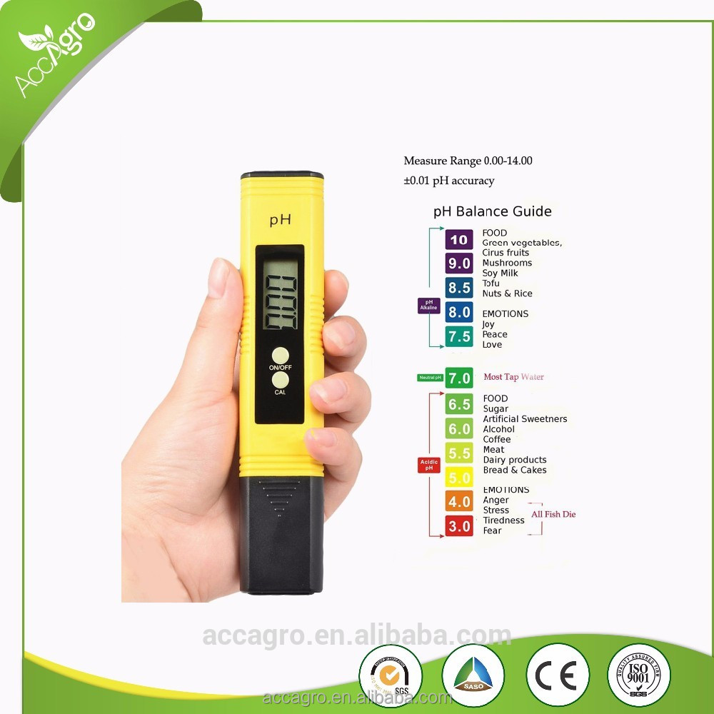 Low Cost Hydroponics Meter Pocket Size Digital Liquid Ph