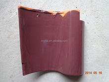 Synthetic spanish rose red clay roof tile