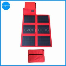 36W 18V monocrystal foldable solar charger for laptop