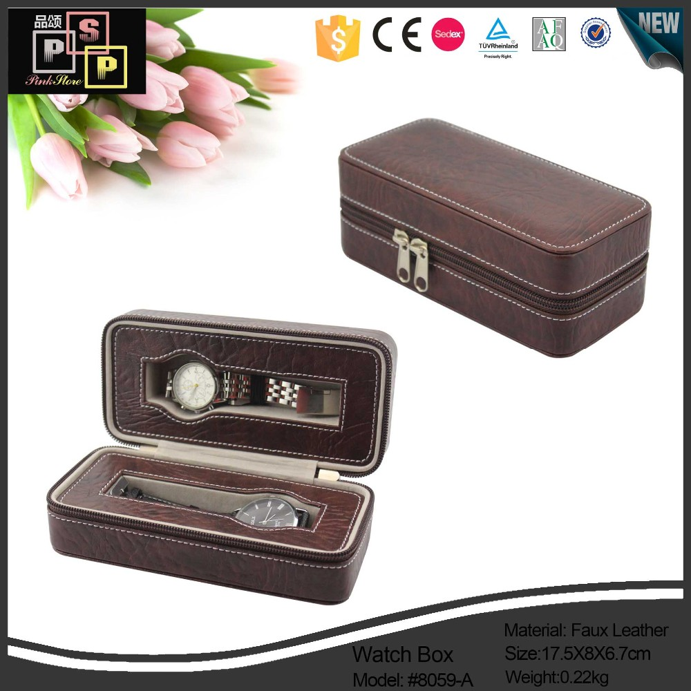 Personalized PU Leather Branded Watch Box Wholesale