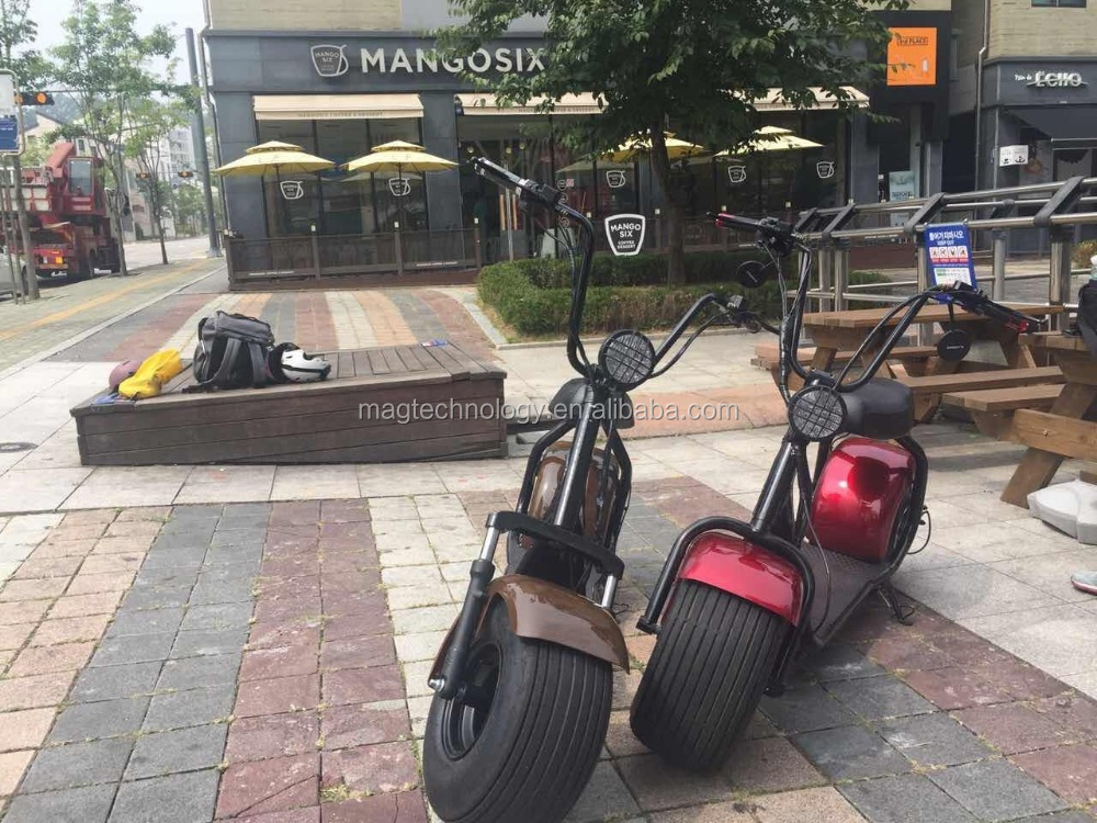 Mag factory citycoco scrooser with front and rear suspension High speed powerful 60V 1000W big motor electric scooter/electric