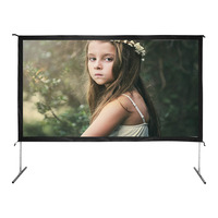16:9 aluminum case fast fold projection screen