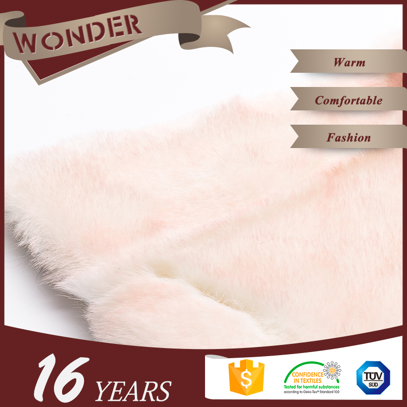 Verified Firm Women Dresses Plush Pink Tip-Dyed High Pile Rabbit Fur