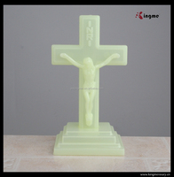 Luminous standing crucifix catholic religious cross with stand