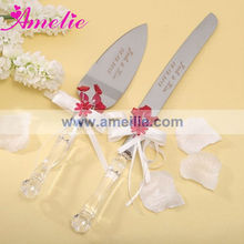 A05113 Red Personalized Wedding Cake Knife Server Set