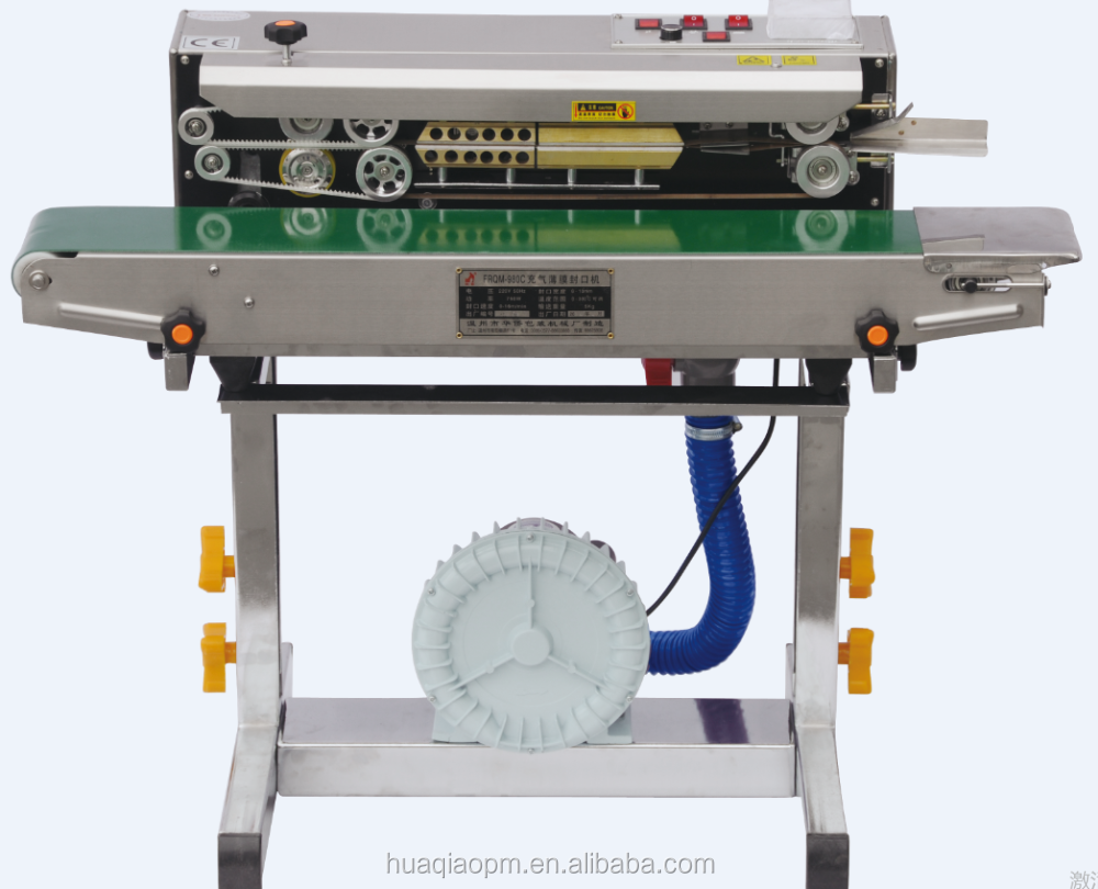 FRQ-980C continuous band sealer machine with gas filling