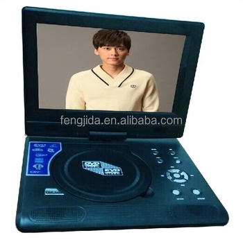 9'' LCD portable DVD player support SD MCC MS Card